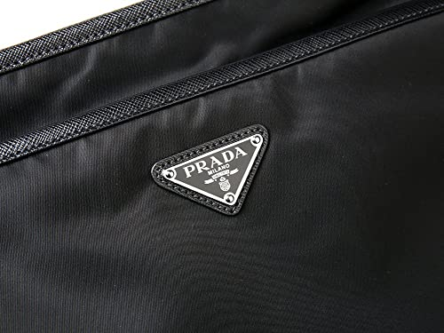 590ca471d27 ... promo code for wiberlux prada mens inverted triangle logo zip top crossbody  bag one size black