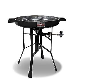 "FireDisc - Deep 24"" Backyard Plow Disc Cooker - Jet Black | Portable Propane Outdoor Camping Grill"