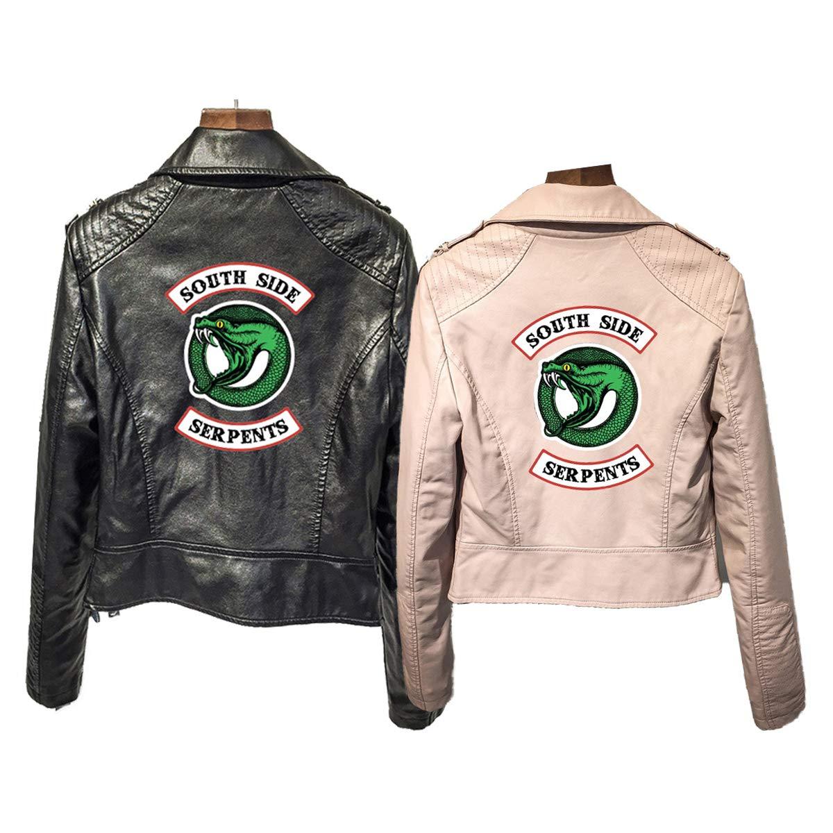 Chaqueta de Cuero Negra para Las ni/ñas-1 de Riverdale Southside Serpents Biker Gang para ni/ñas-1