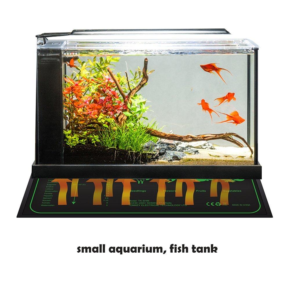 Lerway 17.5w Tapis Chauffant pour Terrarium Plante,Reptile Incubateur,Serre de Jardin, Chauffage Aquarium Mini Serre Chauffante Semis Plaque 10x20(25.4x50.8cm