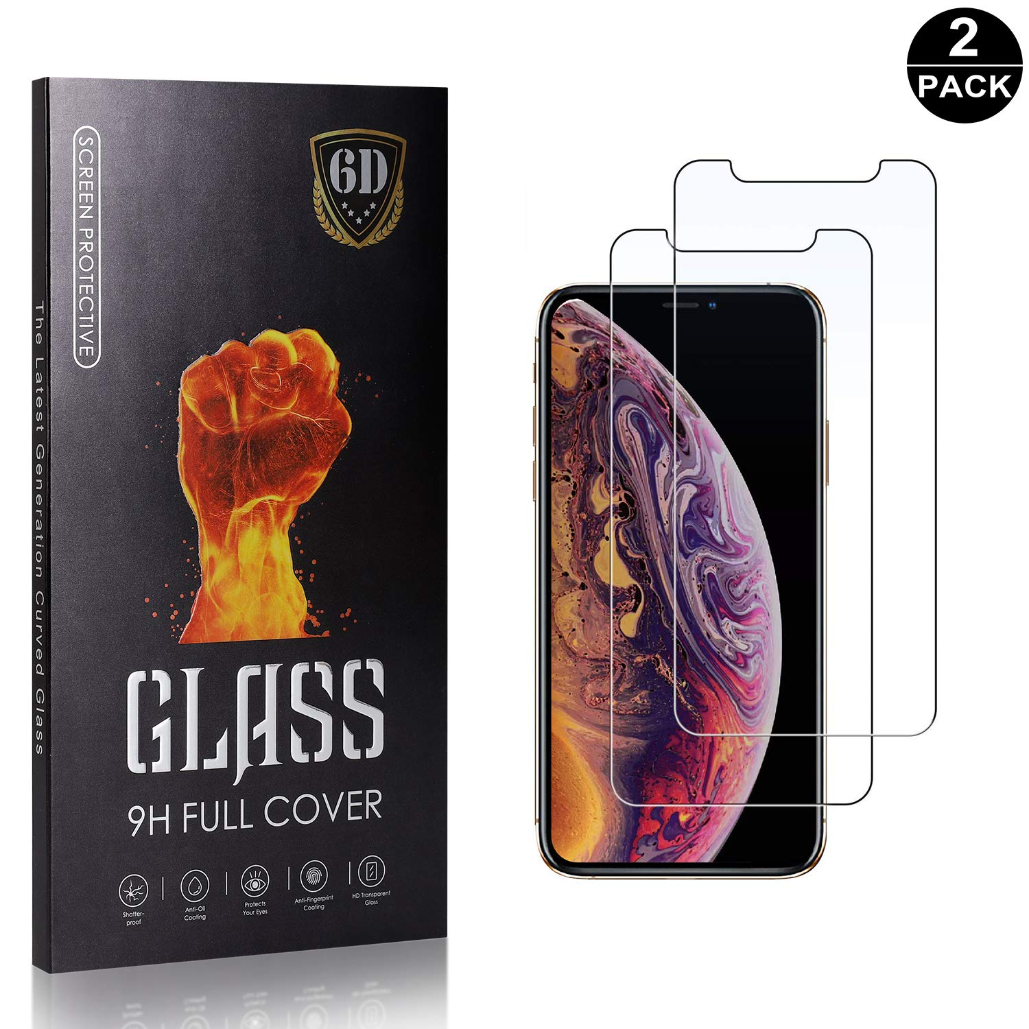 iPhone 11 Pro 5.8 Screen Protector Tempered Glass 1 Pack Bear Village/® Anti-Scratch Bubble Free HD Screen Protector Film for Apple iPhone 11 Pro 5.8