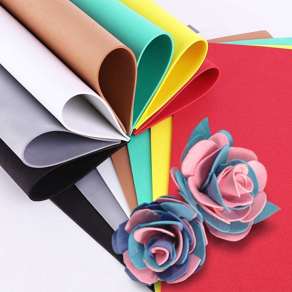mg eva foam sheet 10 different color a4 size 2mm thickness amazon