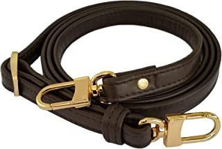 product image for Mautto Dark Brown Genuine Leather Handbag/Purse Adjustable Strap for Petite Bags