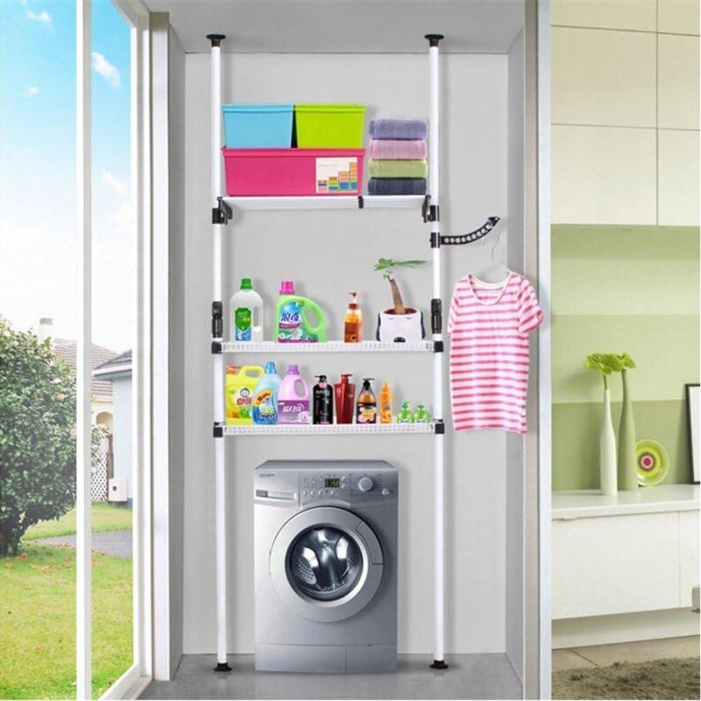 Lavadora estante de acero inoxidable/aterrizaje a creativo/Estantes de baño/Estante del almacenaje del cuarto de baño/inodoro y estante-B