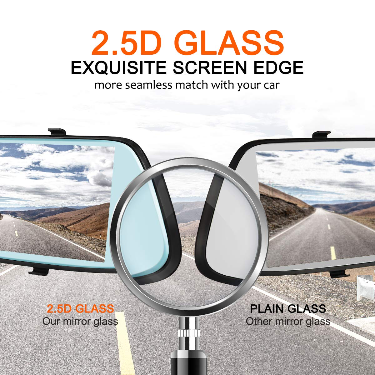 Middle Touch Screen Dual Lens Car Camera with 170/°Wide Angle Rearview Car Camera Dual Lens with Parking Monitor G-Sensor Loop Recording Dash Cam 7-Inch IPS 1080P Backup Camera CHYU
