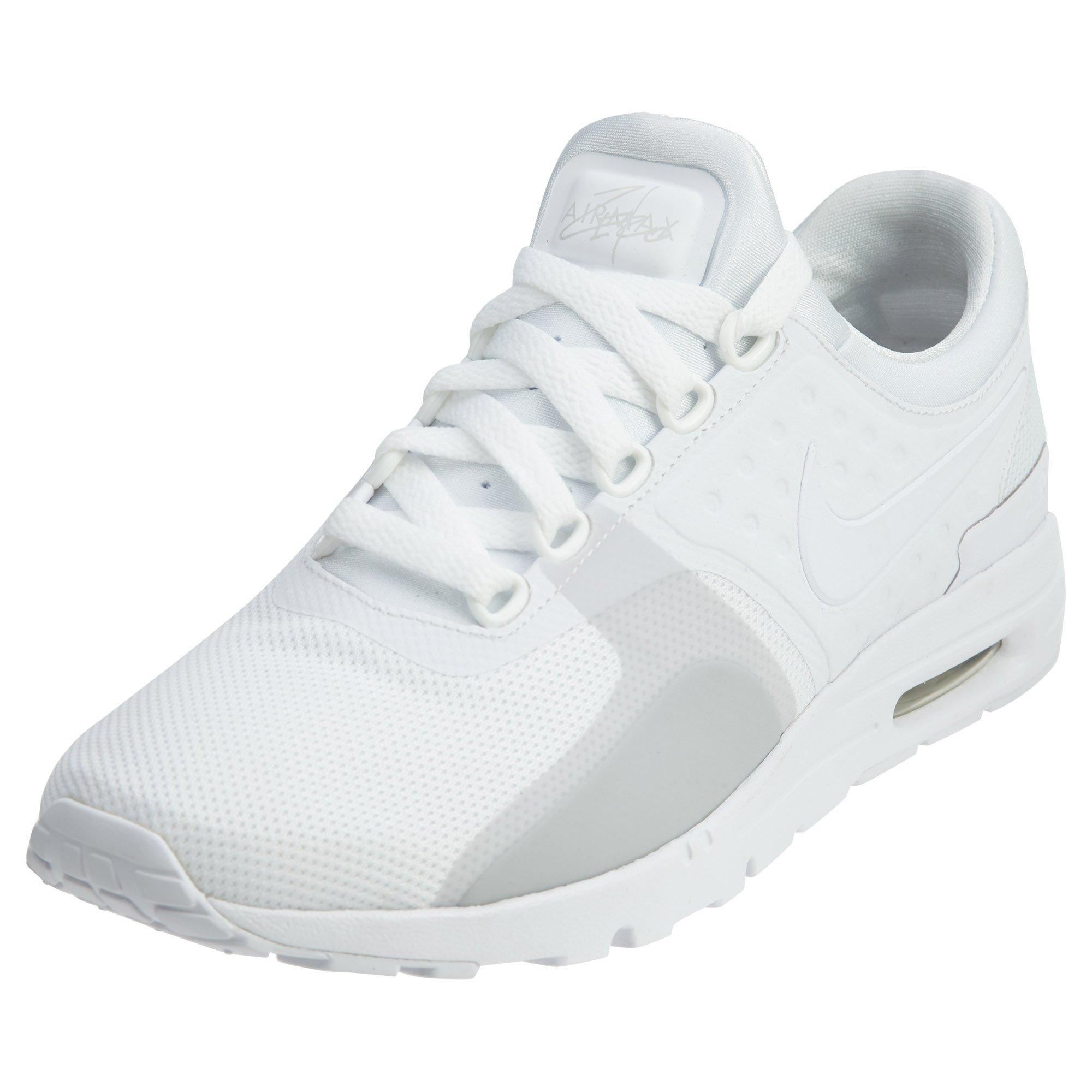 Nike Women's Air Max Zero White/White Pure Platinum Running Shoe 6 Women US