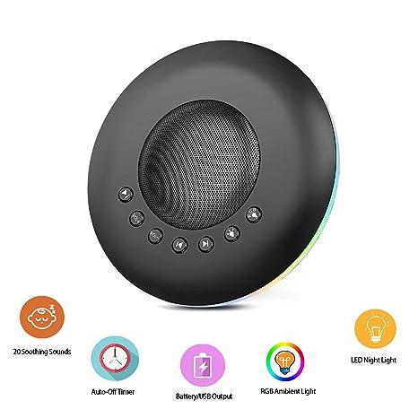 Amazon.com: Máquina de sonidos de ruido, luz nocturna para ...