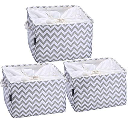 Cestas de almacenamiento AMEON, cestas de almacenamiento de tela Cestas de almacenamiento colgante de cestas