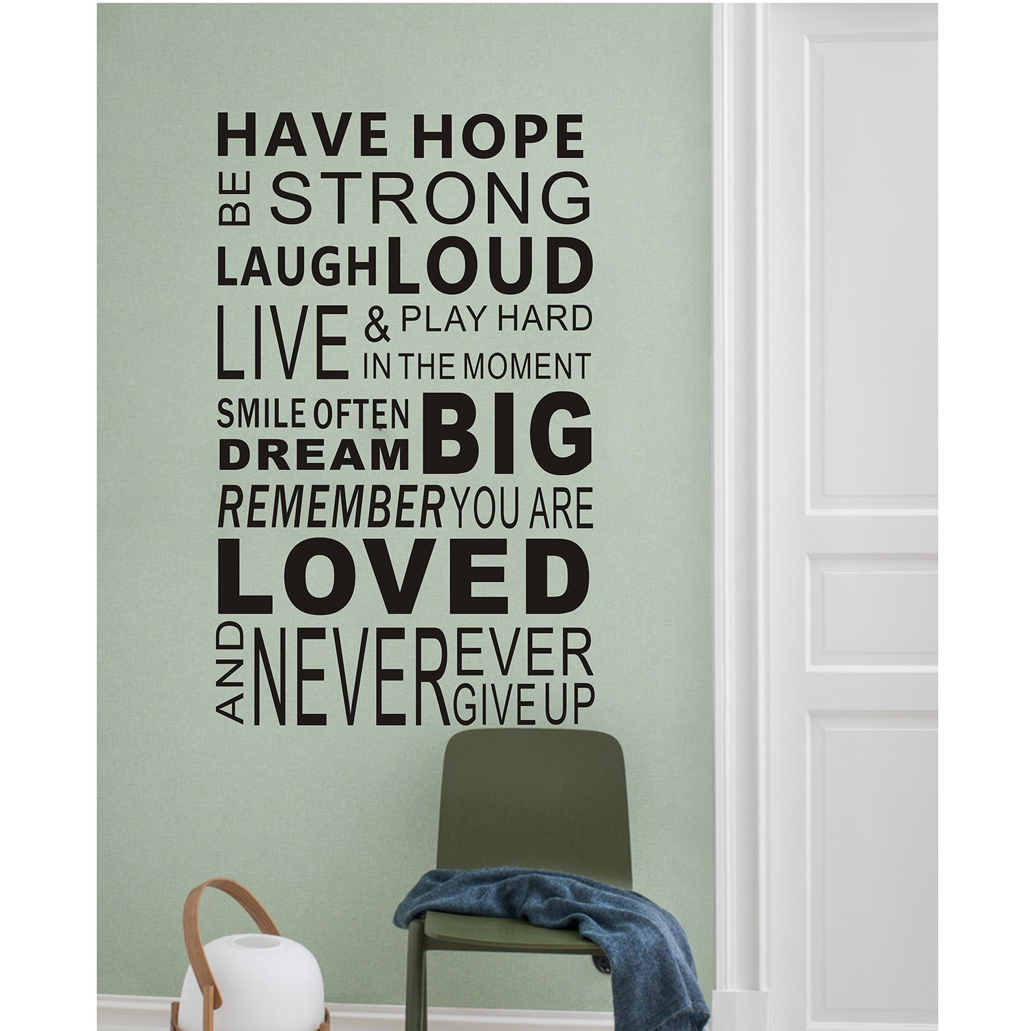 Motivational Inspirational Quotes: Inspirational Wall Decals Quotes,Word Wall Sticker Quotes