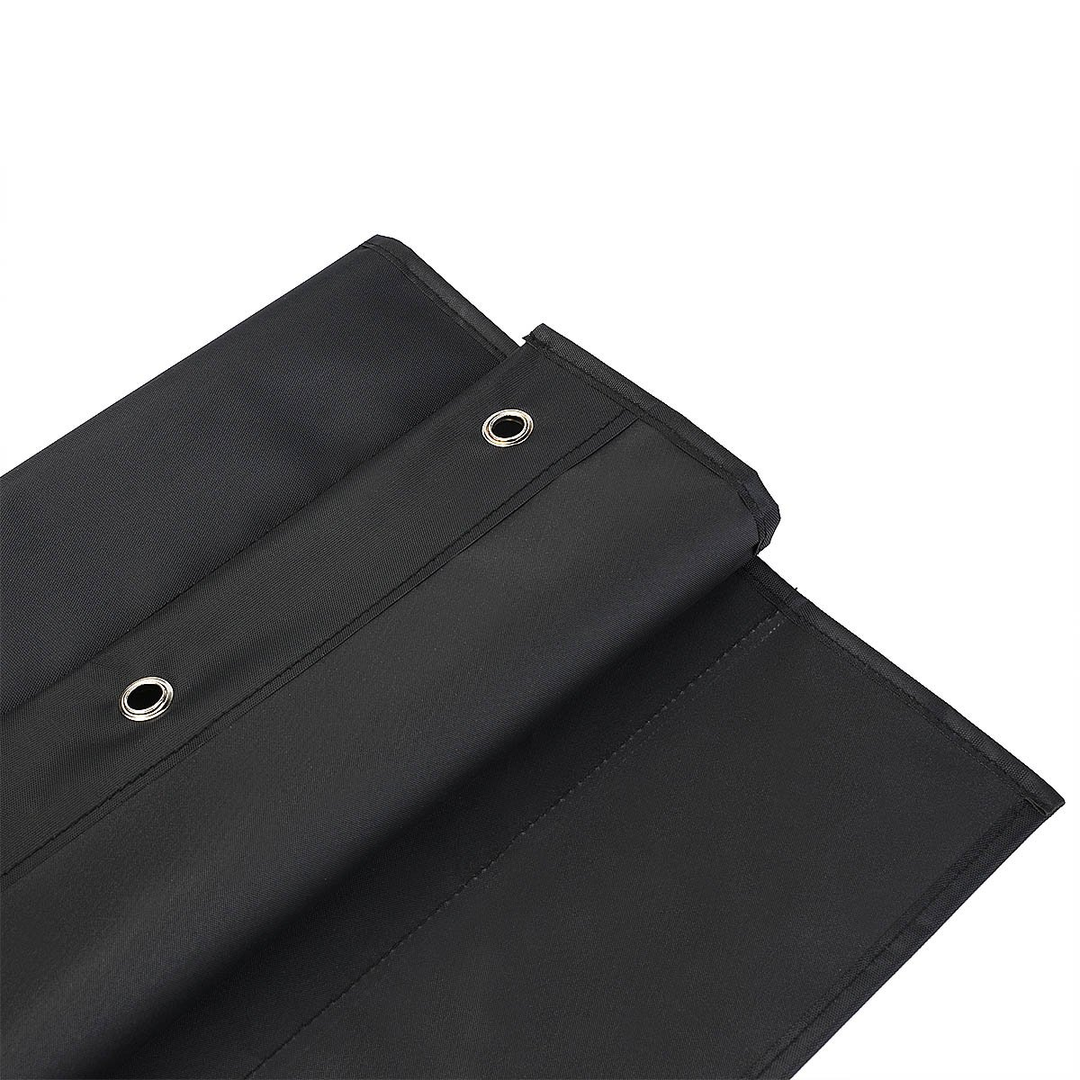 2 Pack Storage Pocket Chart, Wall hanging File Organizer Folder with 10 large Pockets for Office, Home, School, Studio, etc. 14 X 47 inch, BLACK, Mountings included. by Vantasii (Image #4)