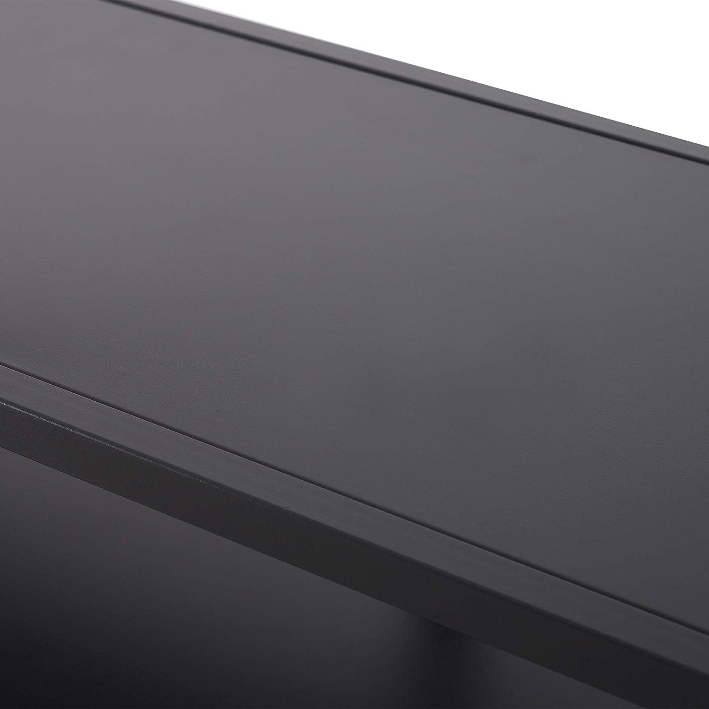 homcom Mobile Porta TV Moderno per Camera da Letto Salotto con 3 Ripiani in Metallo 100,5 x36x53,5cm