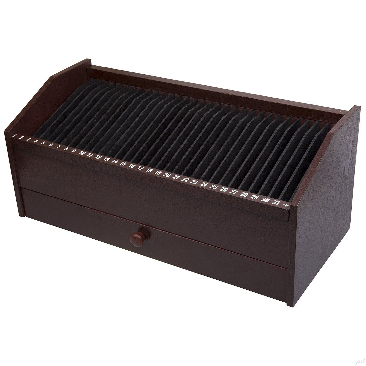 Amazon.com : 31 SLOT WOODEN BILL/LETTER ORGANIZER WITH DRAWER : Office Desk Organizers : Office Products
