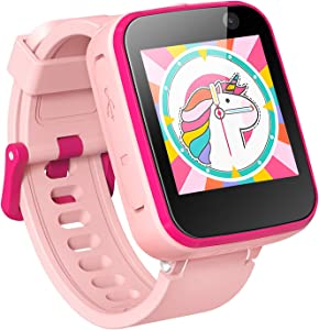 AGPTEK Kids Smart Watch for 3-12 Years Old, Kid Smartwatches with HD Dual Camera, Touchscreen, Educational Games, Music Player, Toddler Watch Learning Toys Birthday Gifts for Girls