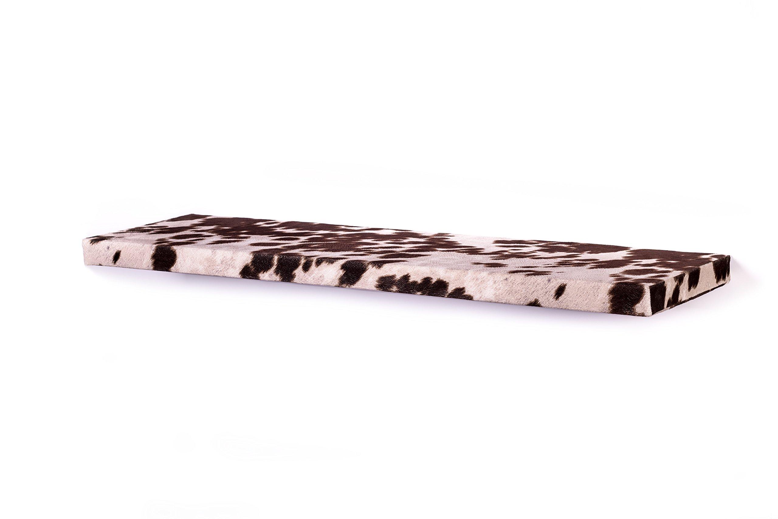 DAKODA LOVE 10'' Deep Cowhide Floating Shelves (Brown, 36'') by DAKODA LOVE (Image #3)