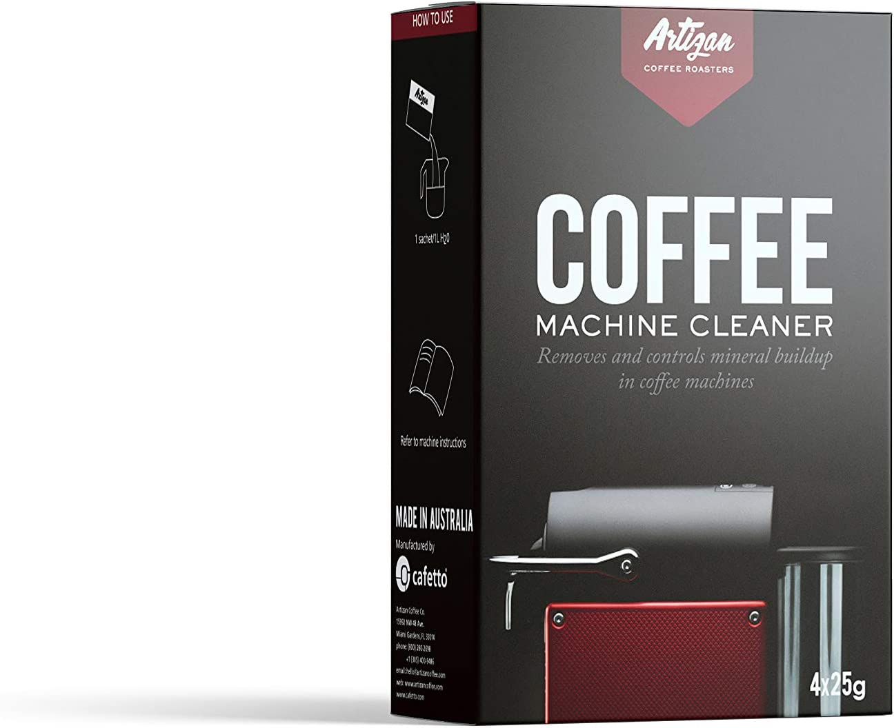 Descaling Cleaning Solution für alle Coffee und Espresso Machines - Ormri Certified für Organic Verwendung (4 Single Verwendung Packets)