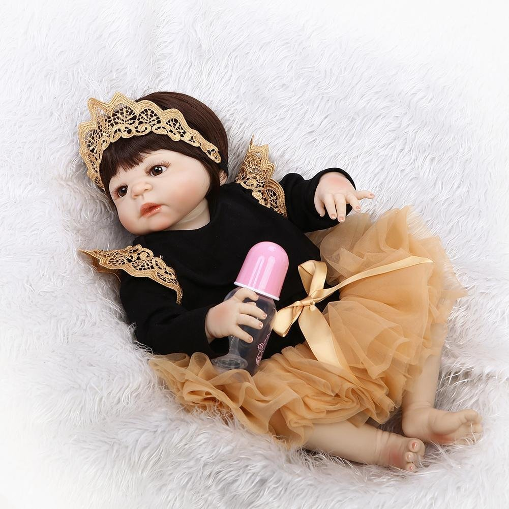 chinatera NPK Simulation Artificial Waterproof Soft Silicone Reborn Baby Dolls Lifelike Infants Girl Doll Toys for Photographic Prop by chinatera (Image #4)