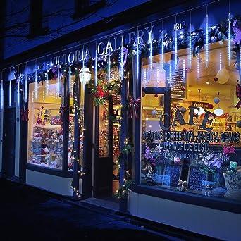 Guirnalda Luces Exterior, 10 Tubo 50cm 540 LEDs IP65 Impermeable luz Navidad, Impermeable Iluminacion Jardin Decorativas Fiestas (50cm Azul): Amazon.es: Iluminación