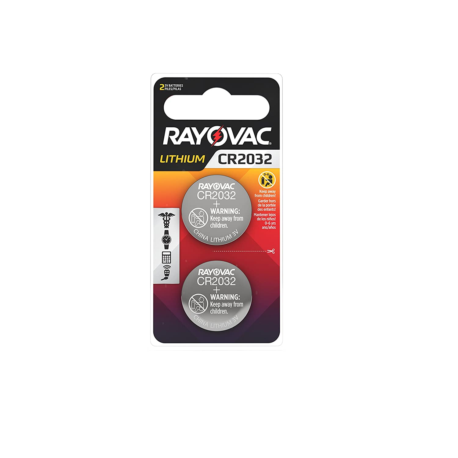 Amazon.com: Rayovac CR2032 Battery, 3V Lithium Coin Cell CR2032 Batteries (2 Battery Count): Home Audio & Theater