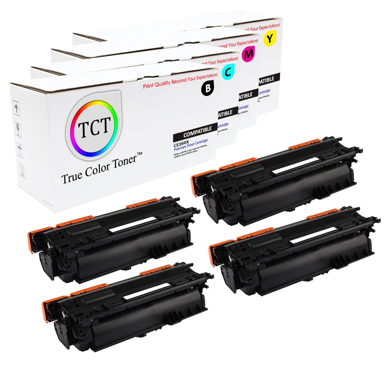 4PK CE260X 649X Black Toner Cartridge High Yield For HP Laserjet CP4025 CP4525