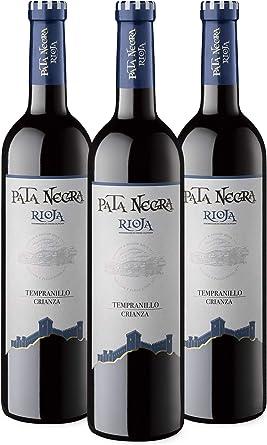 Pata Negra Crianza Vino Tinto D.O. Rioja - Pack de 3 Botellas x ...