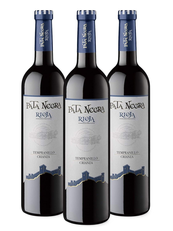 Pata Negra Crianza DO Rioja Vino Tinto - 3 botellas x 750 ml - Total: 2250 ml