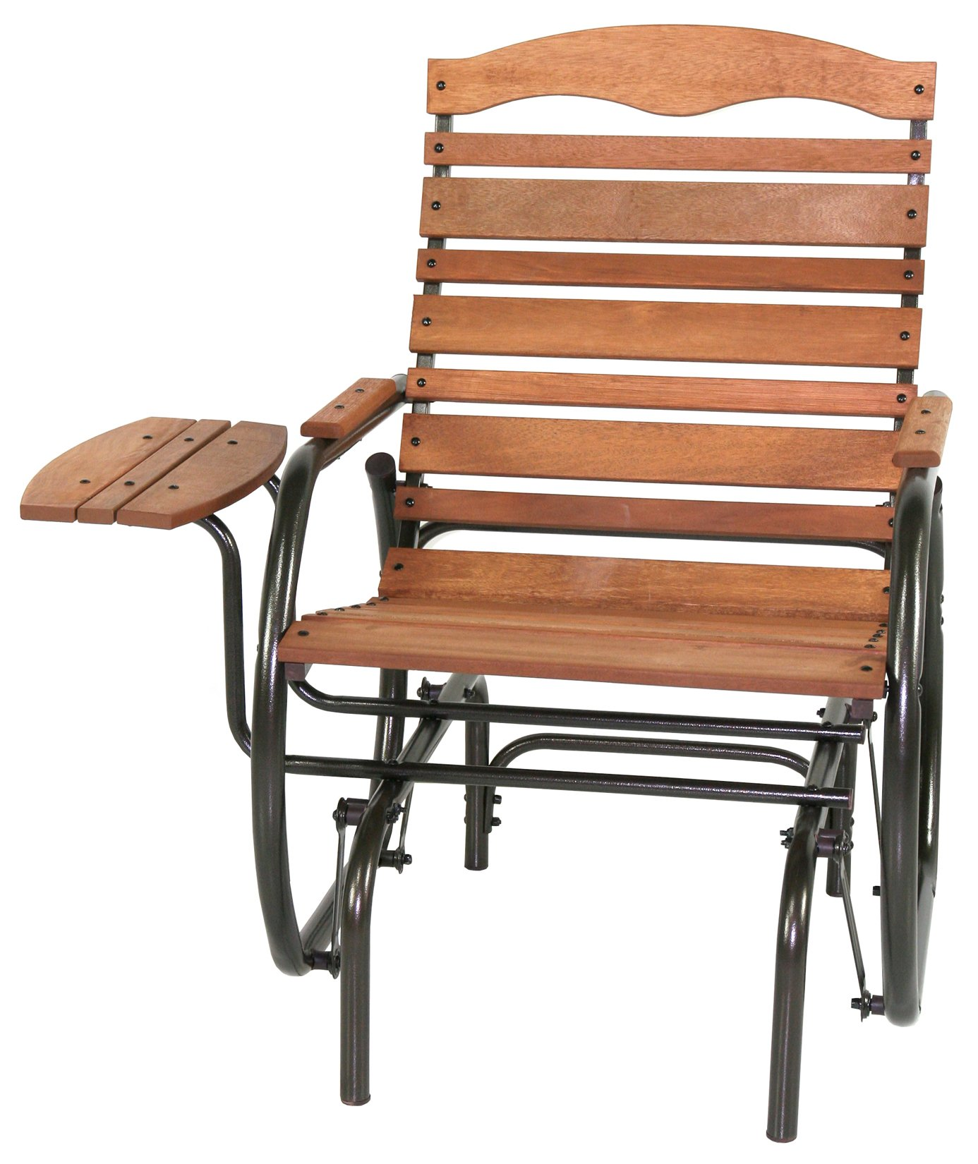 Jack Post CG-21Z Country Garden Glider Chair with Tray, Bronze by Jack Post
