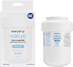 everydrop EVFILTERG1 replacement for GE MWF Refrigerator Water Filter, 1 pack