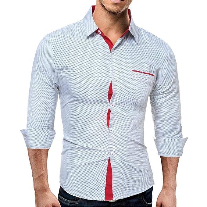 Resplend Camisa Informal de Manga Larga para Hombre Camisa Slim fit de Calidad Hight Quality Blouse: Amazon.es: Ropa y accesorios