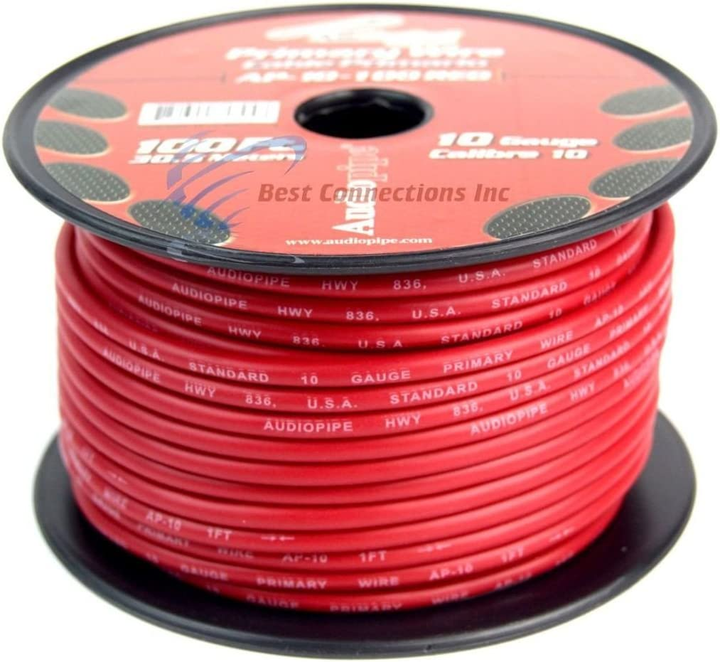 Audiopipe White 12 Gauge 100 feet Car Audio Home Primary Remote Wire