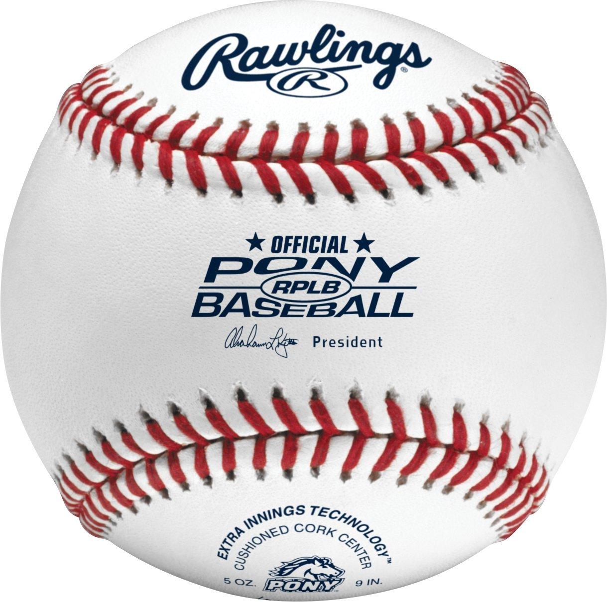 Rawlings Pony League Play Baseballs, (Box of 24), R14UPLSW2-24
