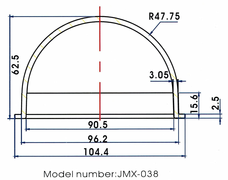 JMX 3,8/pulgadas policarbonato interior//exterior CCTV Claro cubierta de c/ámara domo seguridad c/ámara de c/úpula de logemen