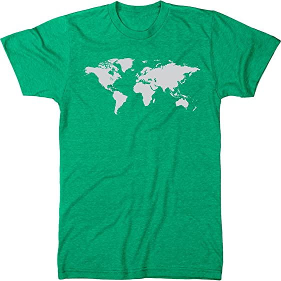 Amazon world map mens modern fit tri blend t shirt clothing world map mens modern fit tri blend t shirt envy small gumiabroncs Gallery