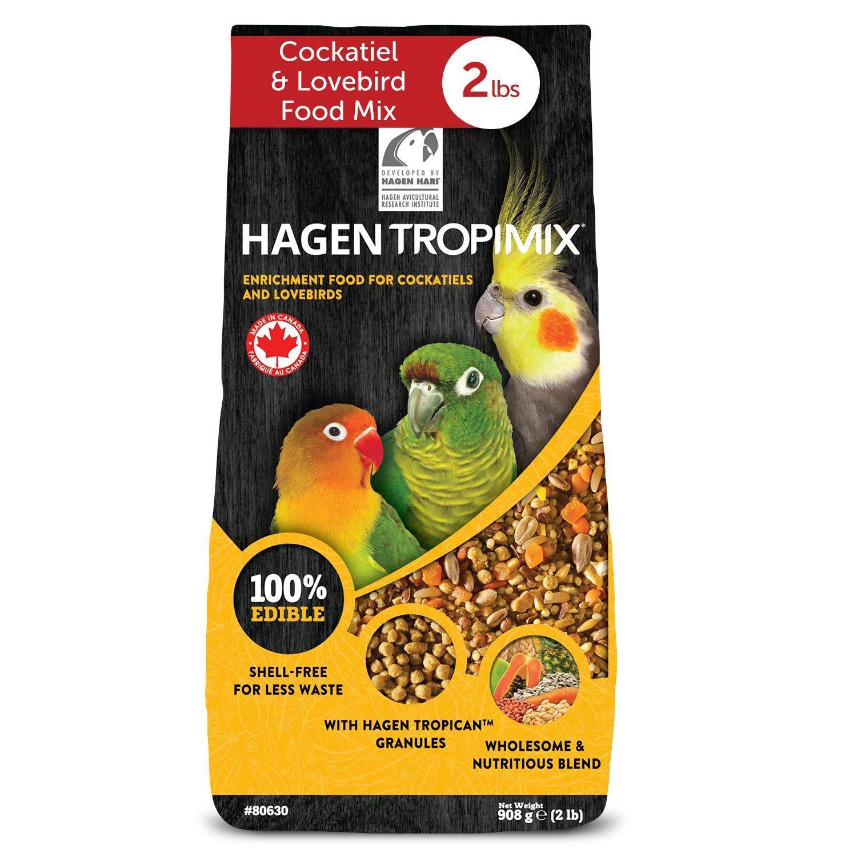 HARI Tropimix Bird Food for Cockatiels & Lovebirds, Hagen Parrot Food with Seeds, Fruit, Vegetables, Grains, Vitamins & Amino Acids, 2lb Bag