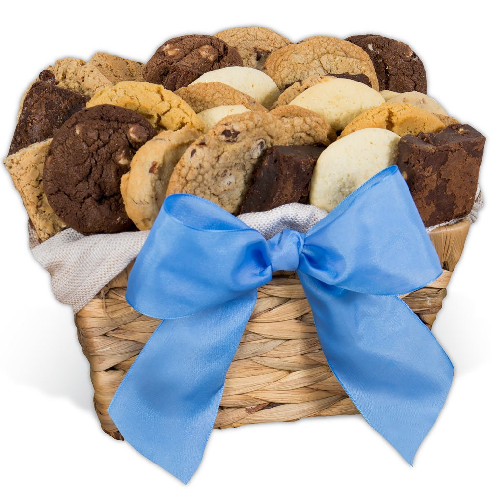 GourmetGiftBaskets.com Holiday Baked Goods Gift, Gourmet Gift Baskets Prime Delivery, Bakery Gift Basket, Kosher Gift, Chocolate Gift - Birthday, Christmas, Sympathy, Men, Women, Families, Corporate