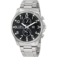 Invicta Mens Quartz Watch, Chronograph Display and Stainless Steel Strap 0379