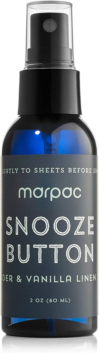 Yogasleep | Snooze Button (Lavender Vanilla) | Premium Aromatherapy Linen and Pillow Spray | Natural Essential Oil Blend for Sleep and Relaxation | 60 ml