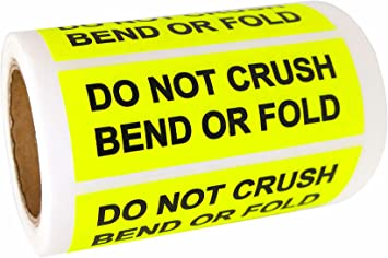 red, 1 x 3Inches RedDo Not Crush Bend or Fold Stickers 1 by 3 Do Not Bend Shipping Handling Labels Shipping Warning Stickers 300 Adhesive Labels for Packages Boxes