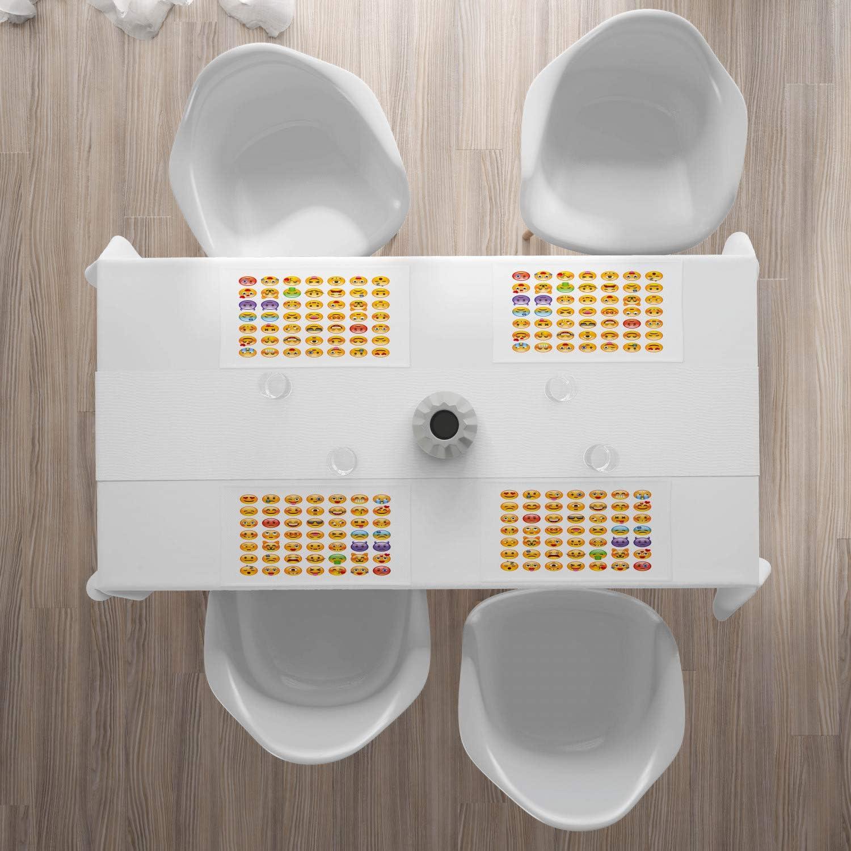 Multicolore D/écoration de Table pour la Salle /à Manger Cuisine en Tissu Lavable Ligne Treize Ans ABAKUHAUS Moderne Set de Table