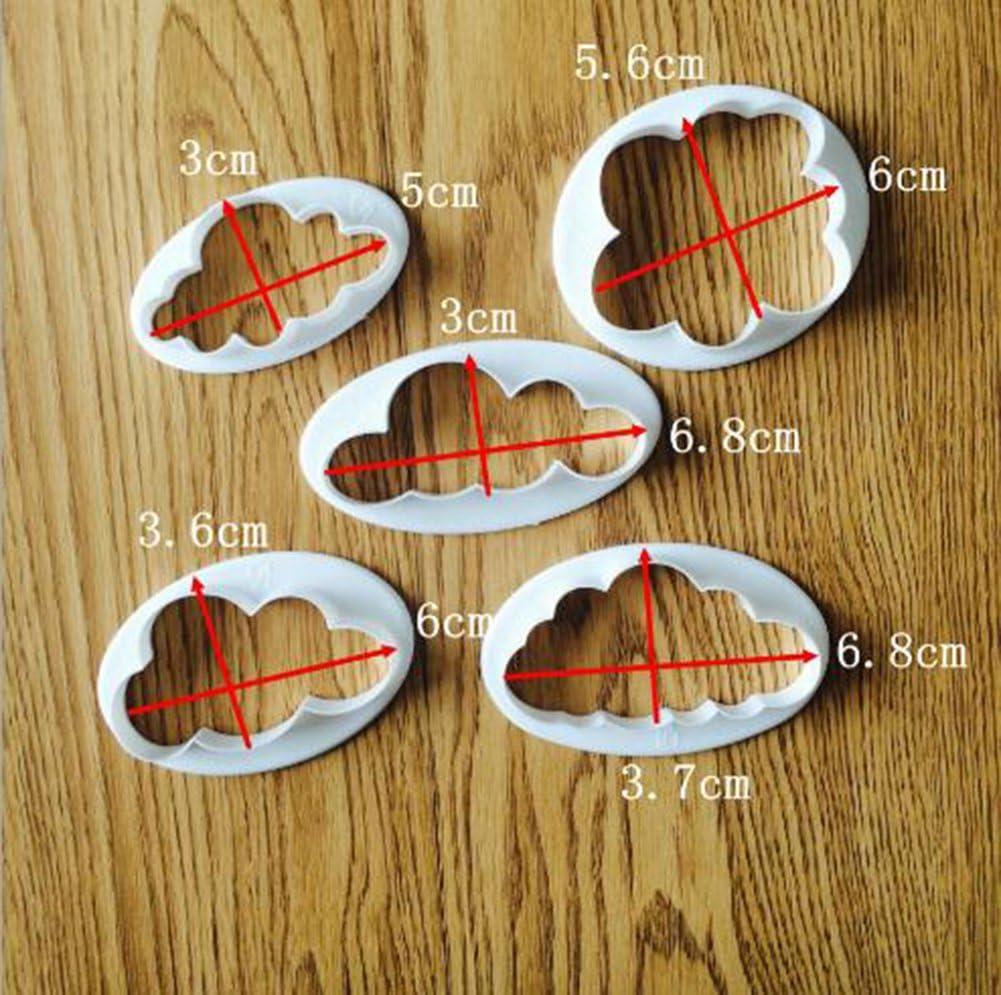 5Pcs//Set Herbe//SOLEIL//NUAGE utile Cookie Cutter Fondant Moule Gâteau Cuisine Gadget