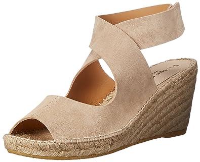 Womens Heels Best Selling 71056398 Bettye Muller Dijon Cross Strap Mule Wedge Espadrilles