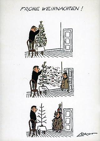 Loriot Weihnachten.Postkarten Weihnachten A6 0625 Fw Baumfrau Von