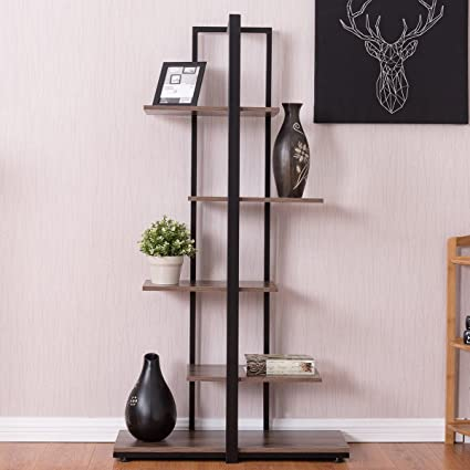 Bookcase 60quot Modern Open Concept Display Etagere Shelf Bookshelf Tower