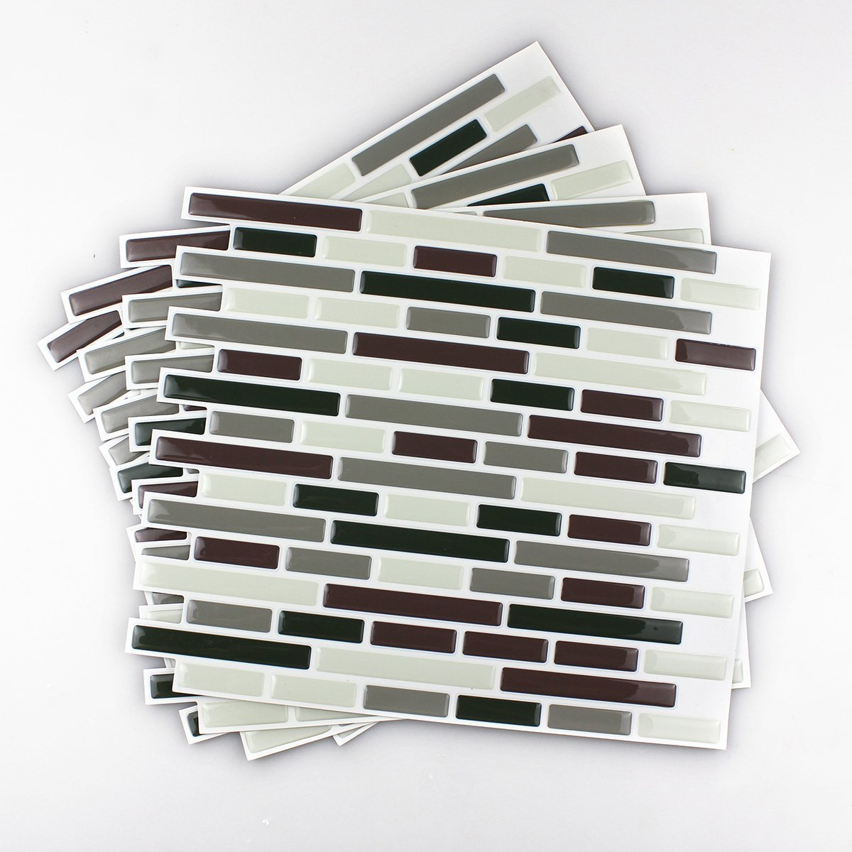 fancy-fix 4 Piece Vinyl Peel And Stick Wall Tile For Decorative Kitchen/Bathroom Backsplash Tiles TS004