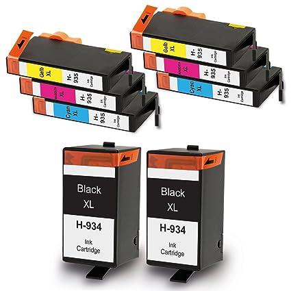 liondo 8 cartuchos de impresora compatible con HP 934 X L ...
