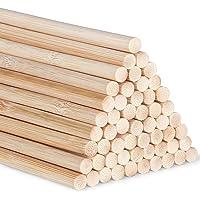 Bamboe deuvelstaven Craft Sticks 30cm/11,8 inch voor ambachtelijke projecten lange houten stokken voor doe-het-zelf, 55…