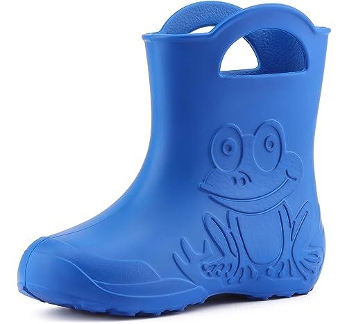 Ladeheid Botas de Agua Zapatos de Seguridad Unisexo Niños LA-CA-01 (Azul