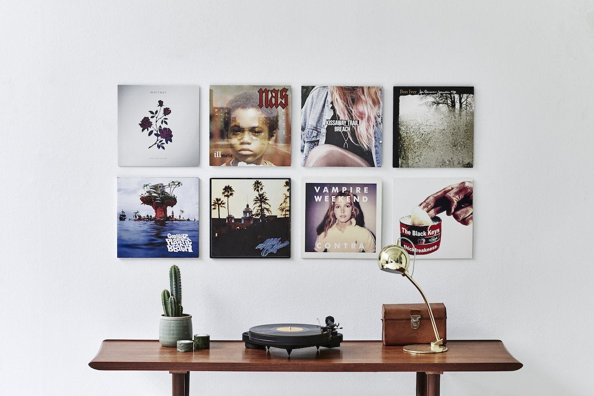 Amazon.com - Twelve Inch - Invisible Display Bracket for Vinyl Records -  For Wall Mounting Your Records and Cover - No Frames or Visible Brackets -