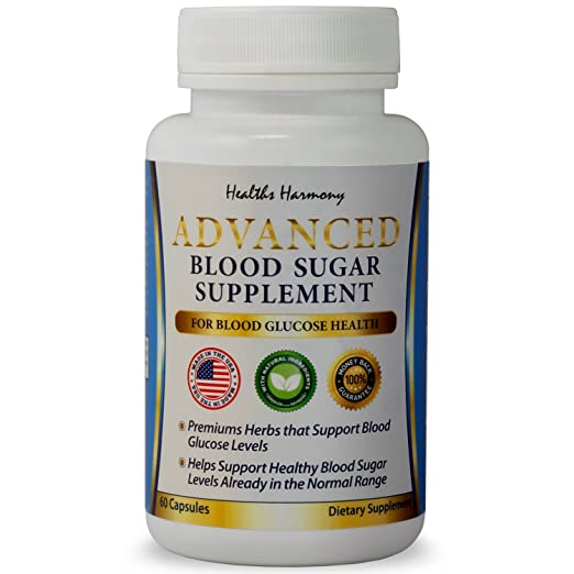 Best Blood Sugar Support Supplement - Helps with Blood Glucose & Weight Loss - Natural Herb Health Level Formula - 100% Money Back Guarantee - 60 Capsule Pills