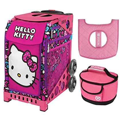 Image Unavailable. Image not available for. Color  Zuca Hello Kitty Bow  Party Sport Bag   Pink Frame w Lunchbox and Seat Cushion 888582e227525