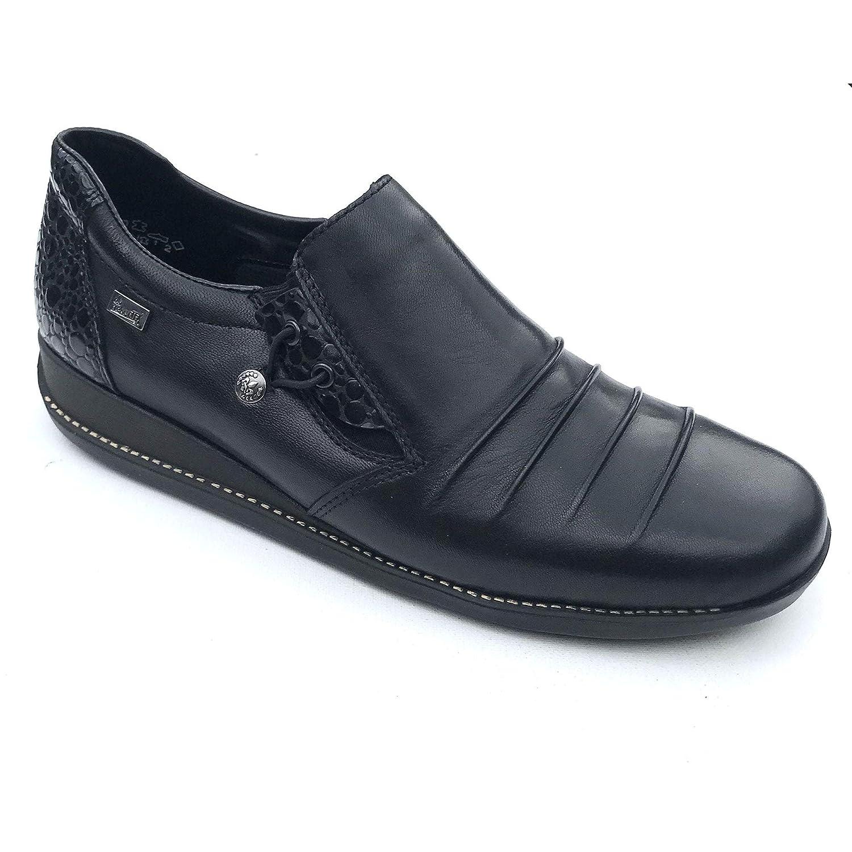 Schwarz Schwarz Rieker 44254 Wasserfeste Stiefel  billiger Verkauf